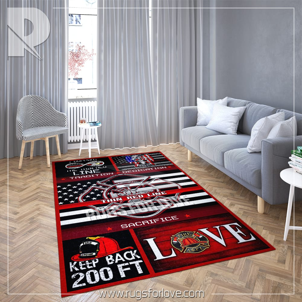 Firefighter Living Room Rug Psl12r